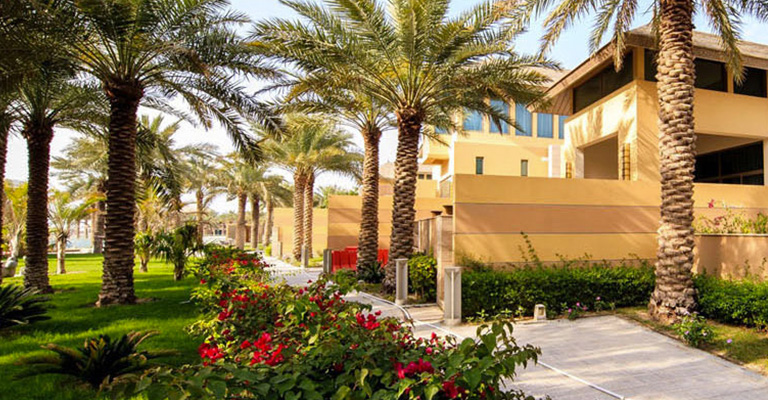 Exterior side view of the Reef Resort Bahrain